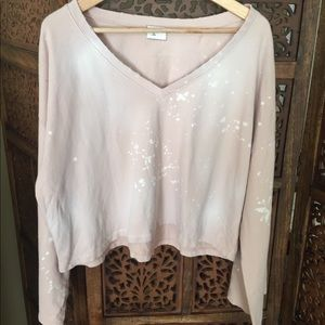 Like New Anthropologie Distressed Sweater L